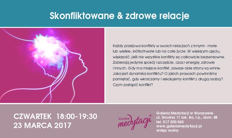 Skonfliktowane & zdrowe relacje @ Galeria Medytacji w Warszawie