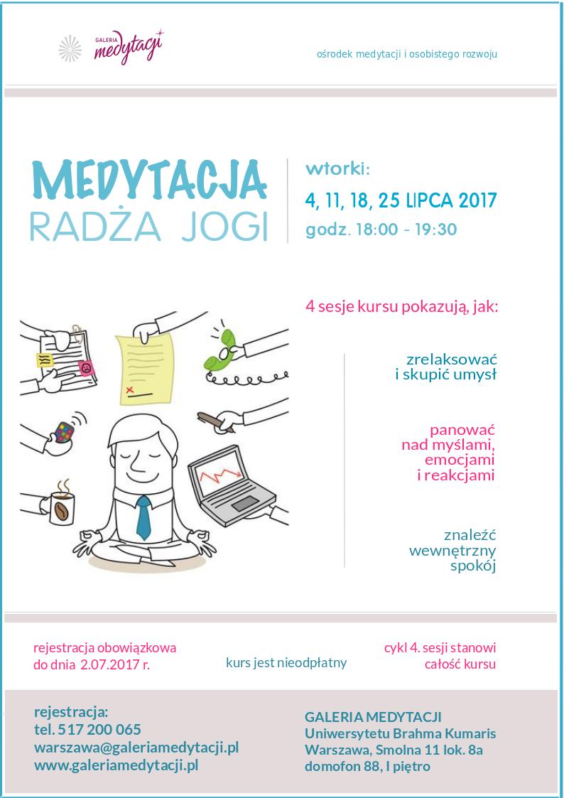 Kurs medytacji radża jogi w Warszawie. Sesja 1 @ Galeria Medytacji w Warszawie
