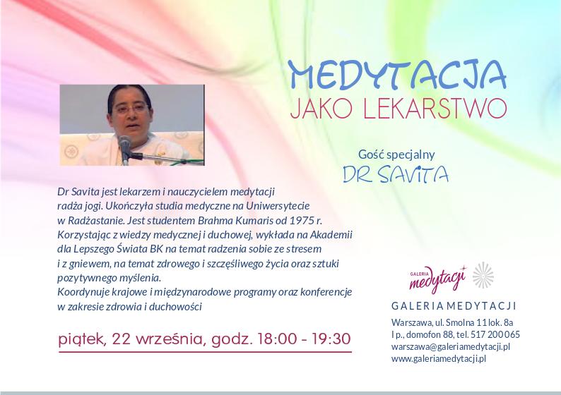 Medytacja jako lekarstwo @ Galeria Medytacji w Warszawie