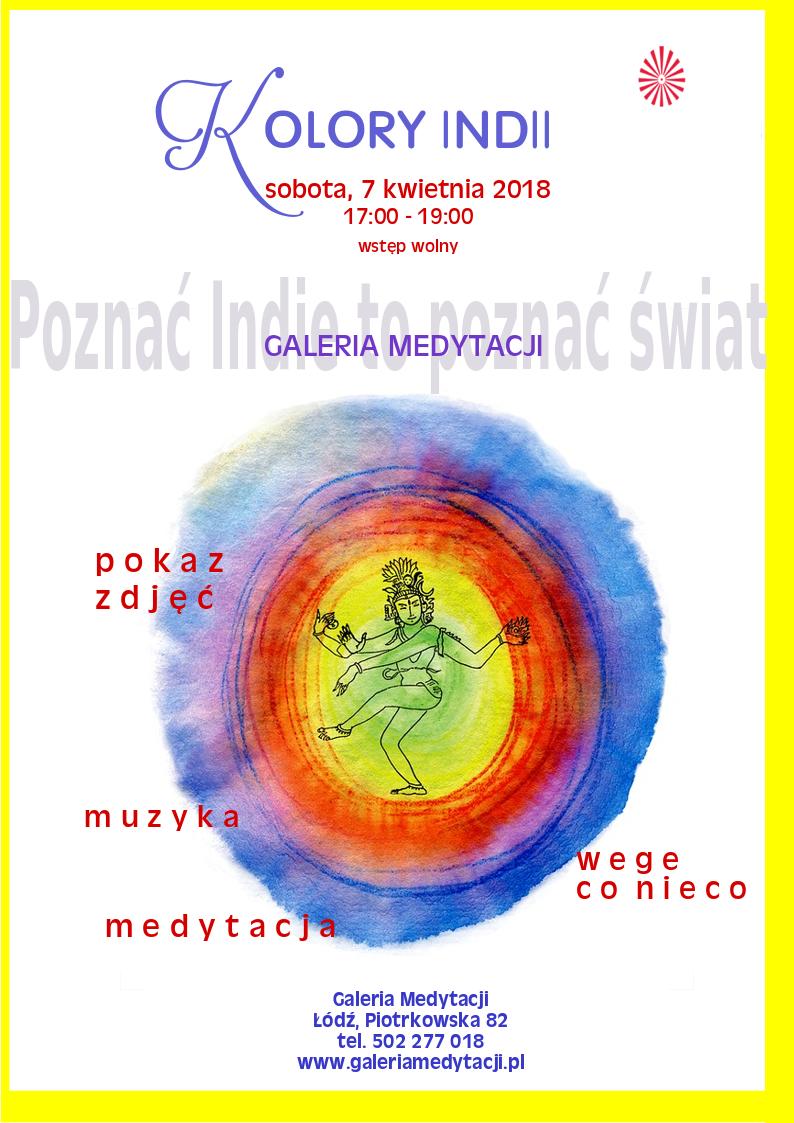 Kolory Indii. Spotkanie w Łodzi @ Galeria Medytacji w Łodzi