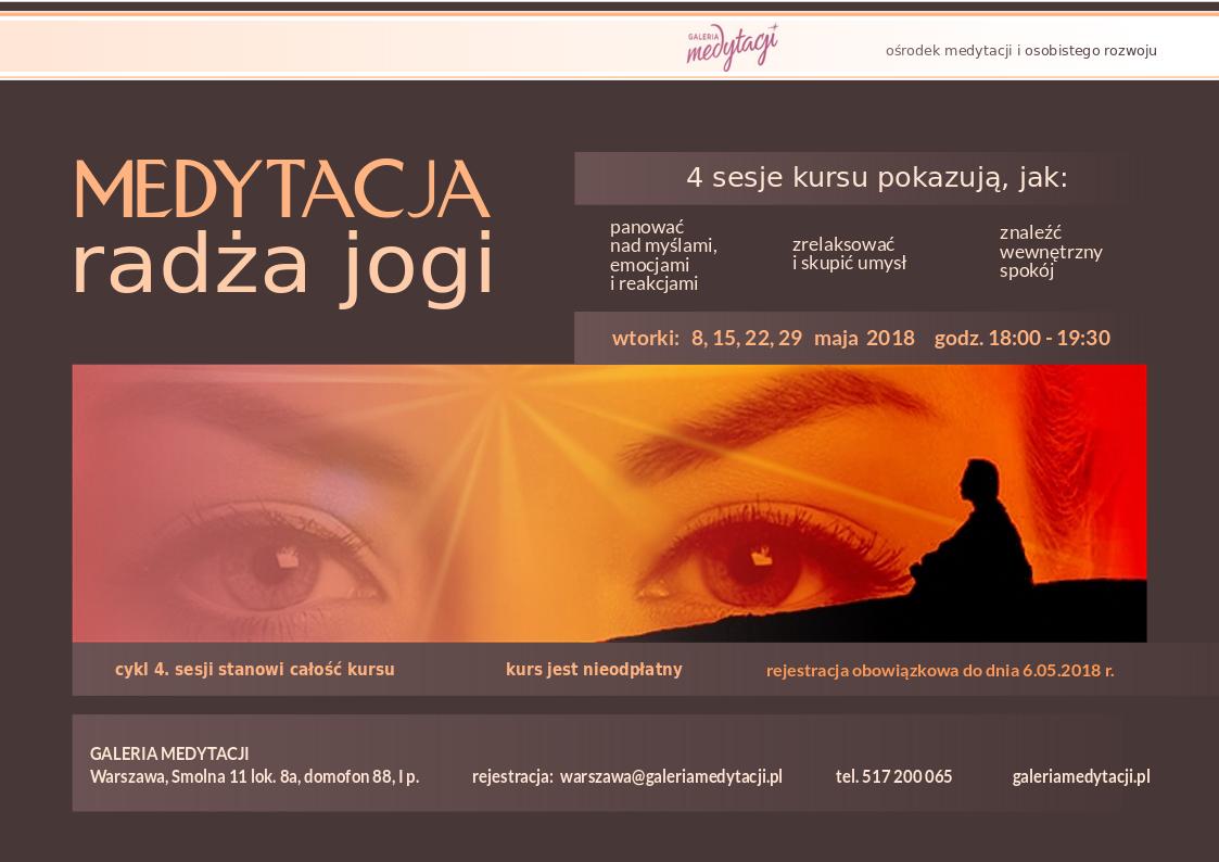 Kurs medytacji radża jogi w Warszawie @ Galeria Medytacji w Warszawie