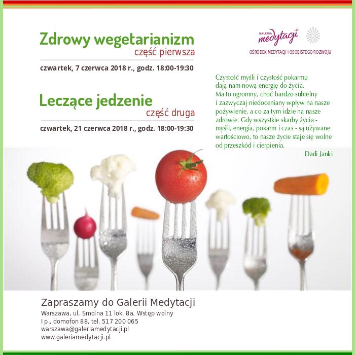 Zdrowy wegetarianizm. Część 1. Spotkanie w Warszawie @ Galeria Medytacji w Warszawie