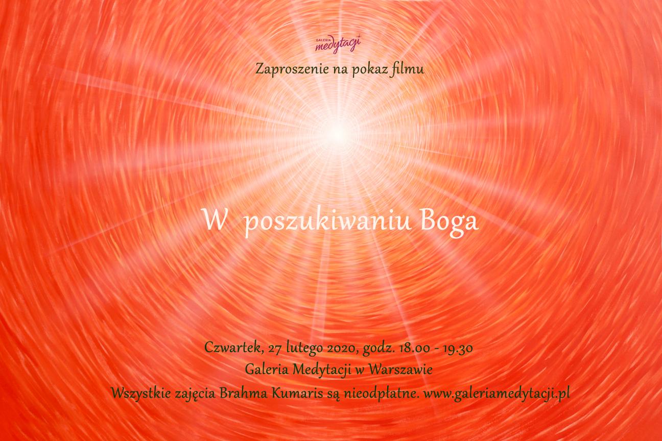 W poszukiwaniu Boga. Pokaz filmu w Galerii Medytacji w Warszawie @ Galeria Medytacji w Warszawie
