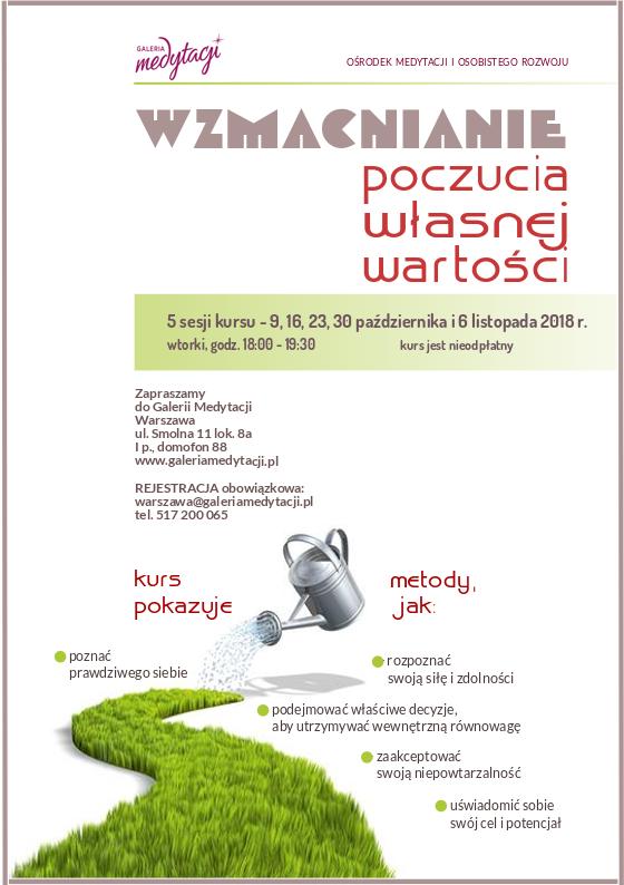 Kurs Wzmacnianie poczucia własnej wartości w Warszawie