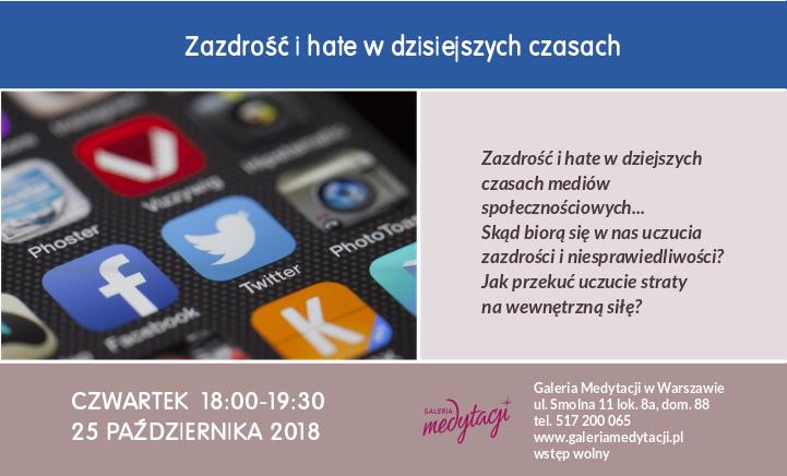 Zazdrość i hate w dzisiejszych czasach @ Galeria Medytacji w Warszawie