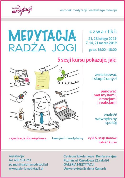 Kurs medytacji radża jogi w Poznaniu. Sesja 3 @ Centrum Konferencyjne