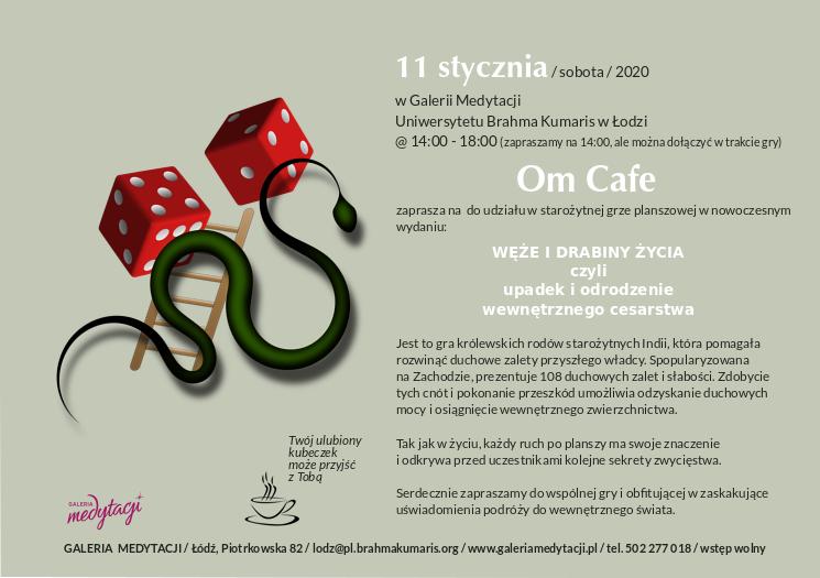 """Gra """"Węże i drabiny"""" w Om Cafe w Łodzi @ Galeria Medytacji w Łodzi"""