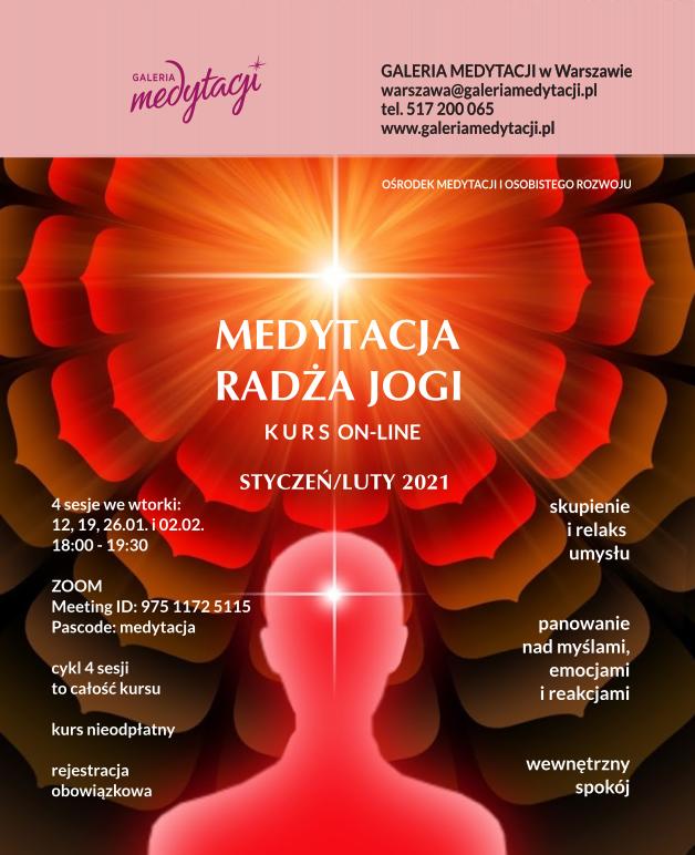 Online kurs Medytacji Radża jogi. Sesja 2 @ wydarzenie online