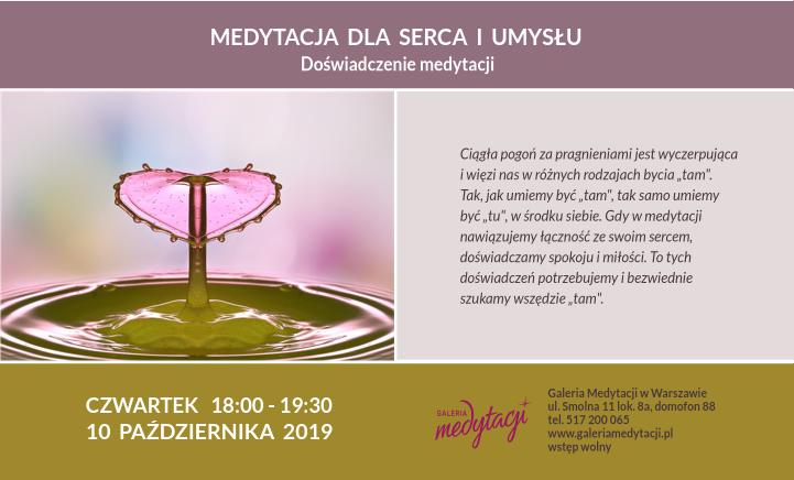 Medytacja dla serca i umysłu w Warszawie @ Galeria Medytacji w Warszawie