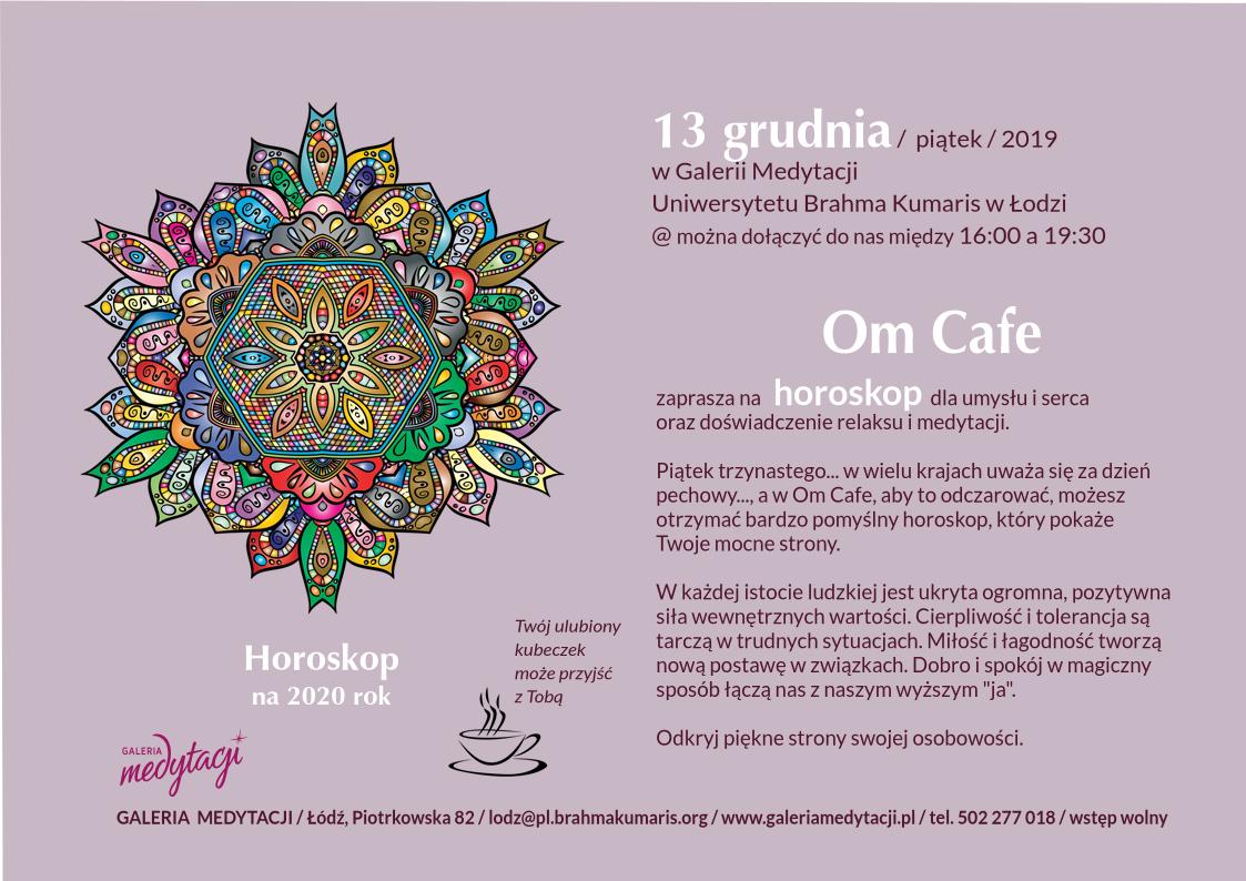 Horoskop na 2020 r. w Om Cafe w Łodzi @ Galeria Medytacji w Łodzi