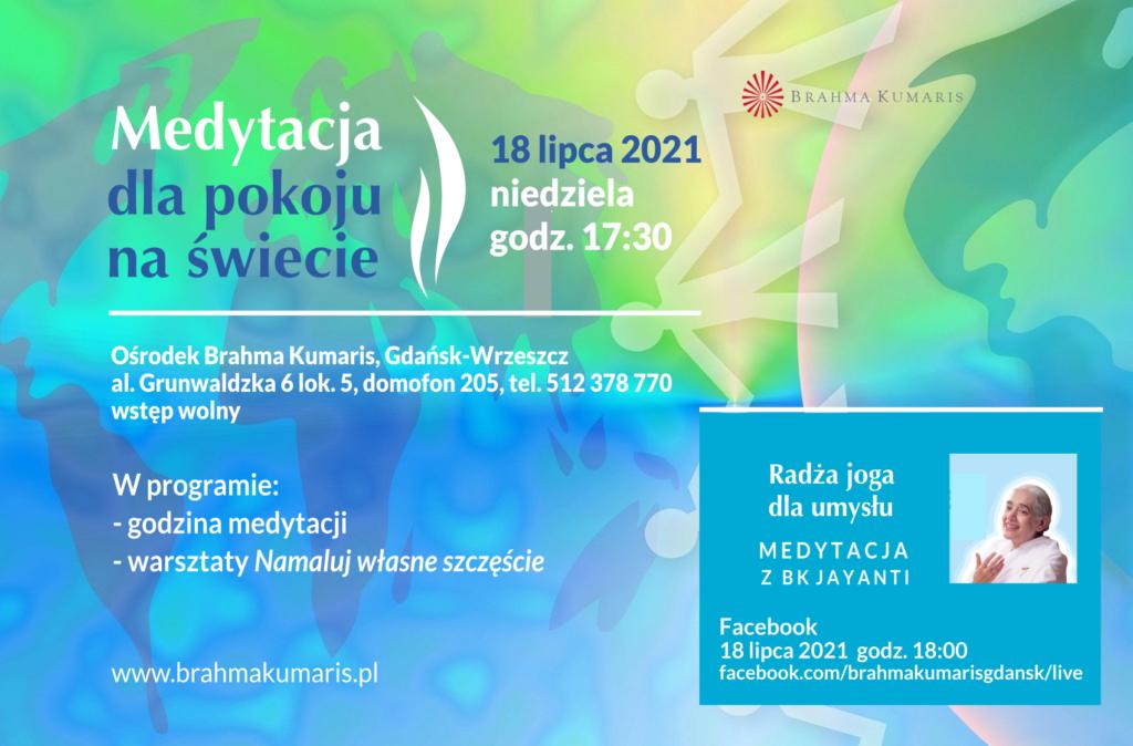 Medytacja dla pokoju na świecie w Gdańsku @ wydarzenie online