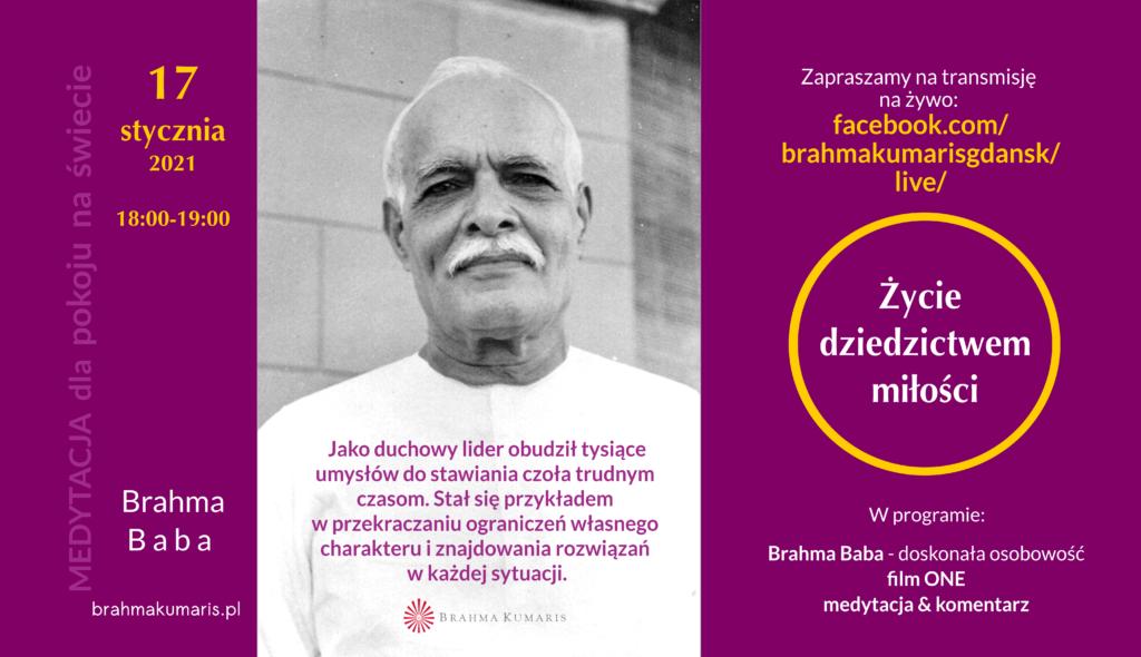 Zycie dziedzictwem miłości. Spotkanie online w ramach Medytacji dla pokoju na świecie @ wydarzenie online FB brahmakumarisgdansk/live/