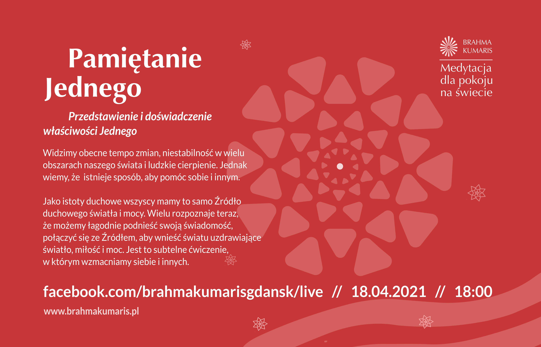 Spotkanie z cyklu Medytacja pokoju dla świata @ wydarzenie online FB brahmakumarisgdansk/live/