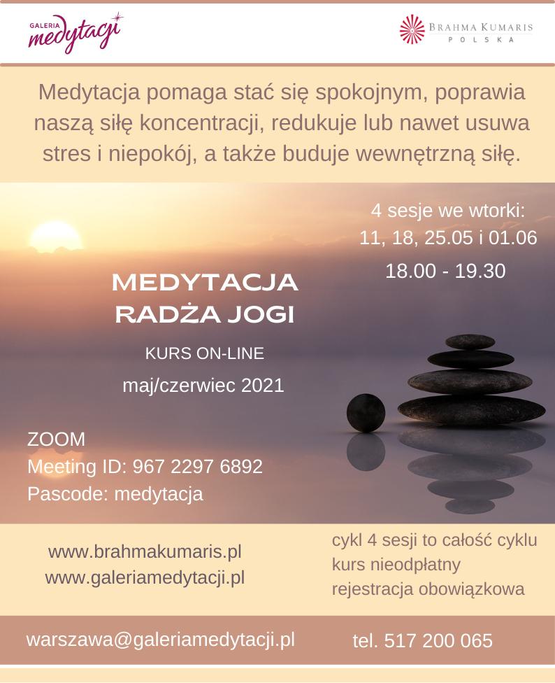 Kurs medytacji radża jogi - online @ wydarzenie online