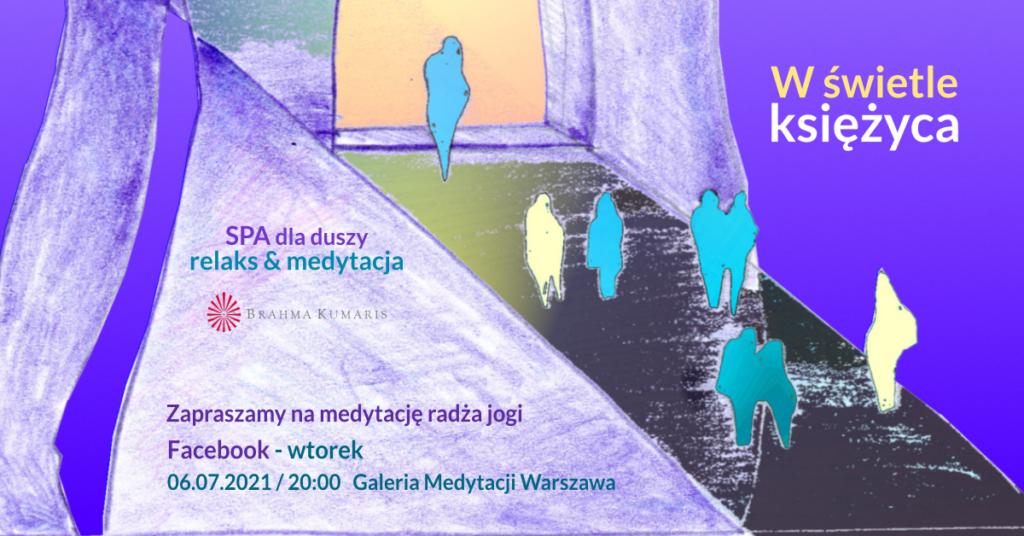 W świetle księżyca. Relaksacja w ramach cyklu SPA dla duszy. FB Galeria Medytacji w Warszawie @ wydarzenie onliine